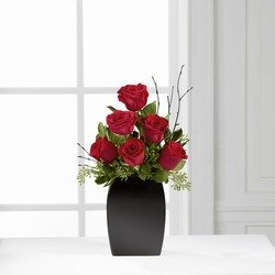 Contemporary Bouquet of 6 Roses