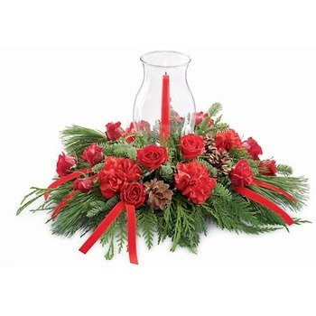 The Holiday Traditions Candle Centerpiece