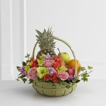 The FTD� Rest in Peace� Fruit & Flowers Basket