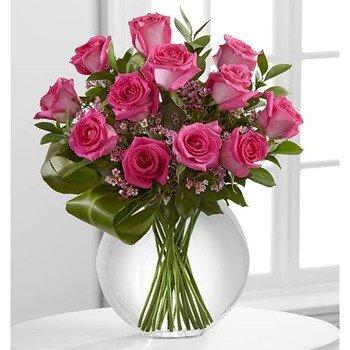 Pink Rose Bouquet of Blazing Beauty