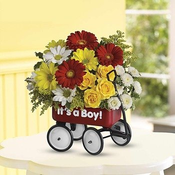 Baby's Wow Wagon by Teleflora - Boy