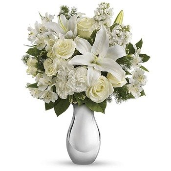Teleflora's Shimmering White Bouquet