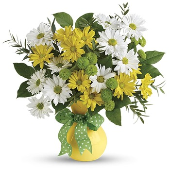 Teleflora's Daisies And Dots Bouquet