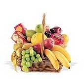 Fruit Basket with Crackers and Cheese