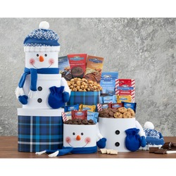 Deluxe Ghirardelli Chocolate Snowman Tower