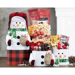 Snowman Chocolate Tower