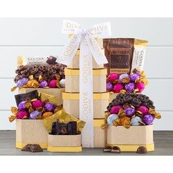 Godiva Milk and Dark Chocolate Tower