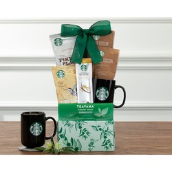 Starbucks And Teavana Assortment Gift Basket