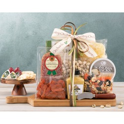Savory Cutting Board Meat, Cheese & Nut Collection