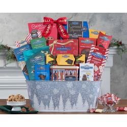 Festive Ghirardelli Chocolate Gift Basket