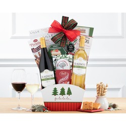 Wine And Cheese Happy Holidays Gift Basket