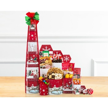 Winter Cheer Gift Tower