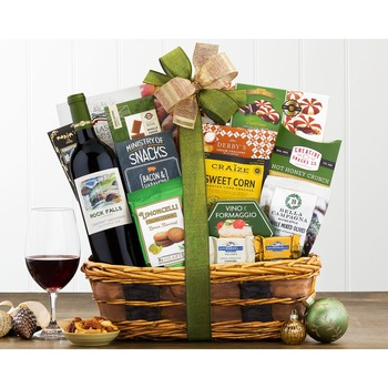 Barrel Hoops Cabernet Bon Appetit Wine Basket