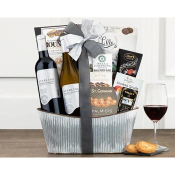 Sterling Vintner's Duet Wine Basket