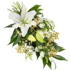 Funeral Sheaf in White Colours