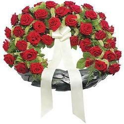 Rose Funeral Wreath