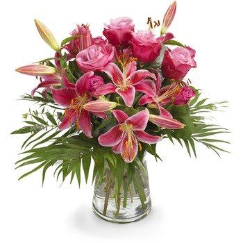 Lilies & Roses (Vase not Included)