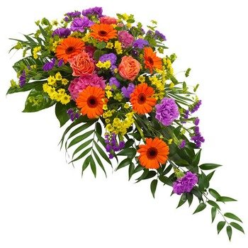 Funeral spray in mixed colours
