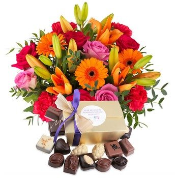 Bright colors and chocolate (Vase not included)