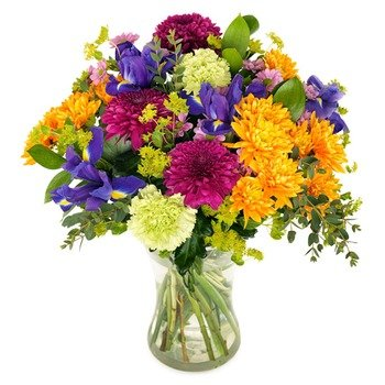 Colorful Flower Greetings (Vase not Included)