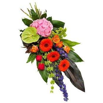 Vibrant Funeral Bouquet