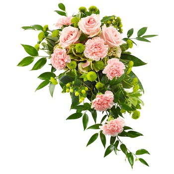 Funeral in Pink and Green Colours