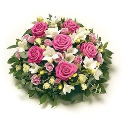 Funeral Bouquet Pink and White