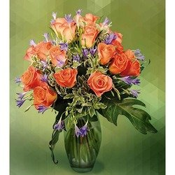 Bouquet of Orange Roses (Vase not Included)