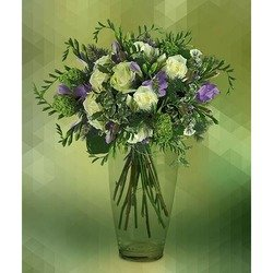 Bouquet of White Rose and Freesia (Vase not Included)