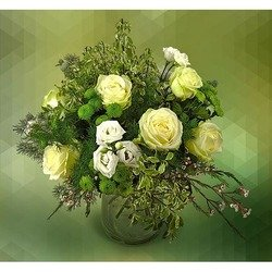Arrangement of White Flowers