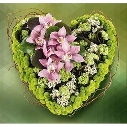 Heart of Orchids and Mums