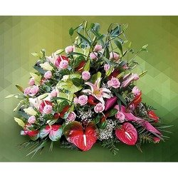 Sympathy Arrangement in Pink Roses