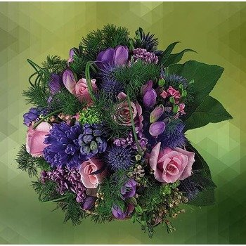 Bouquet of Pink and Purple Flowers