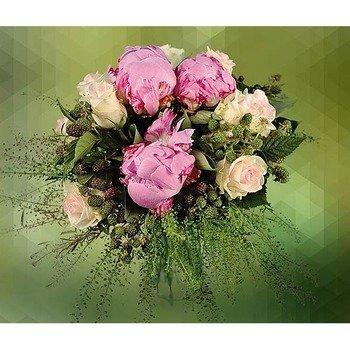 Arrangement of White Roses & Fuxia