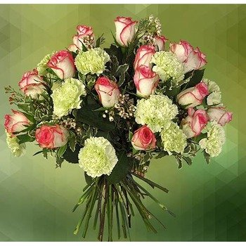 Unarranged of Carnations and Roses