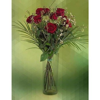 Unarranged of 9 Red Roses (Vase not Included)