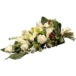 Funeral Bouquet in White (Vase Not Included)