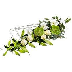Funeral Spray in White