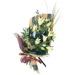 Bouquet of Cut Flowers with casablanca lilies (Vase Not Included)