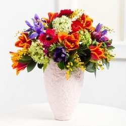 Cheerful Seasonal Bouquet (Vase Not Included)