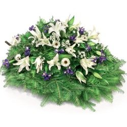 Funeral Spray - Lilies and Iris
