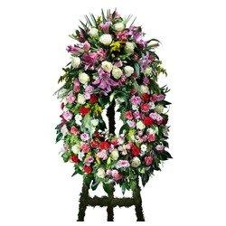 Multicoloured Classic Wreath with headboard