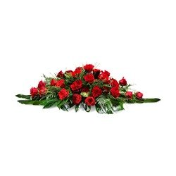 Cushion of red roses