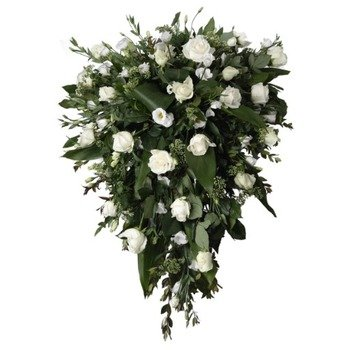 Funeral Spray of White Roses