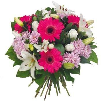 White Fushia Bouquet (Vase Not Included)
