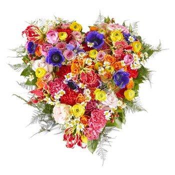 Silent words Funeral Bouquet Heart
