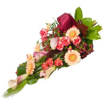 Colourful memories -funeral bouquet