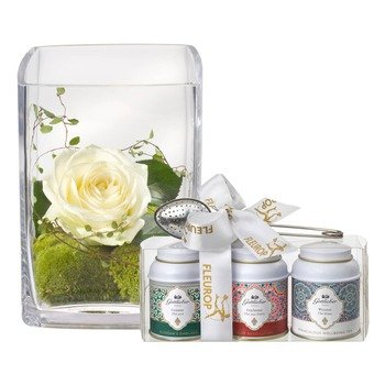 Warm Greetings (including Vase) with Gottlieber tea gift set