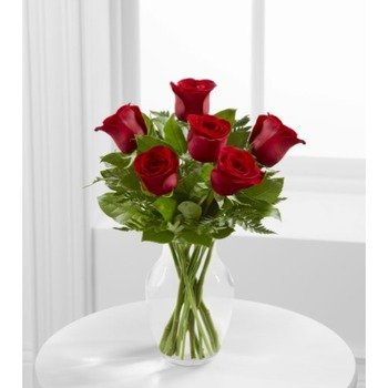 The Simply Enchanting Rose Bouquet by FTD - VASE INCLUDED