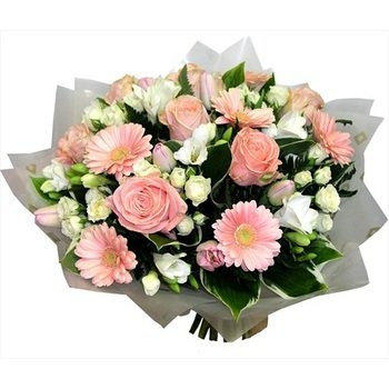 """Bouquet """"Romance"""" of pink roses (Vase Not Included)"""